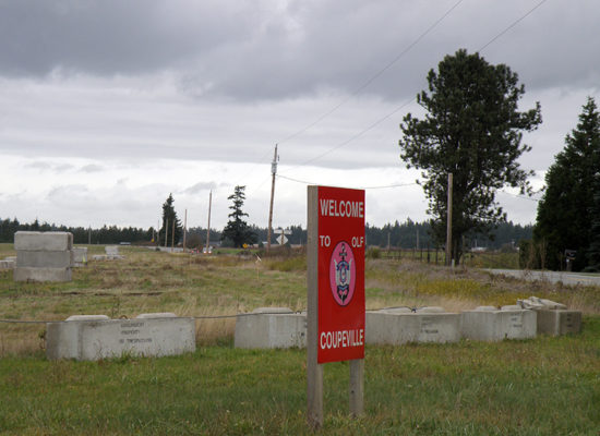 Illegal Cement Blocks at OLF Coupeville - NASWI disregards Parks Decision
