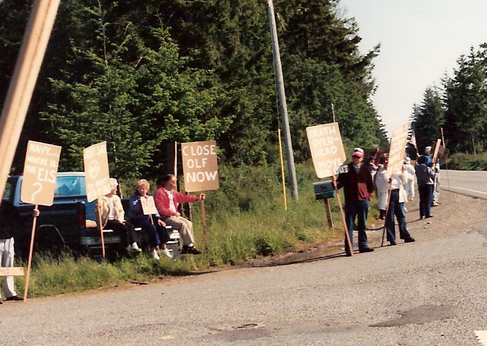 WISE protests OLF - Whidbey Island - Jet Noise