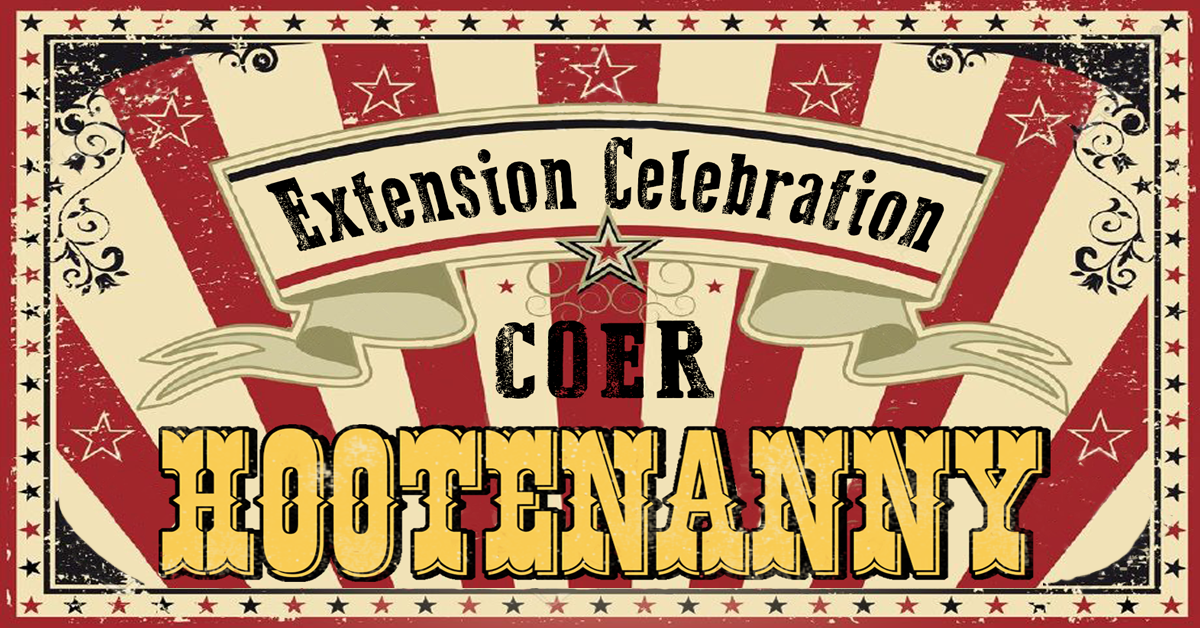 COER Hootenanny - Celebrate our Supporters and the EIS Extension