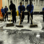 Navy sweeping up firefighting foam - water contaminants - update on testing