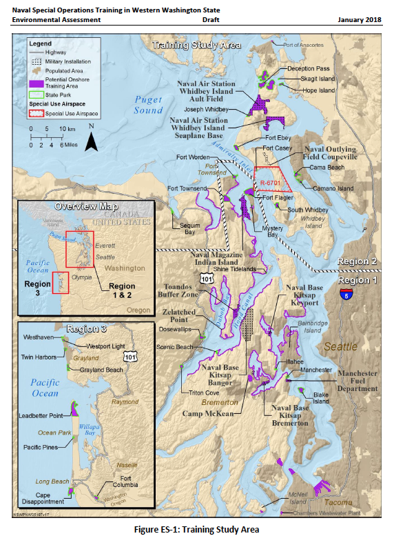 Proposed Navy SEAL training area in the Puget Sound