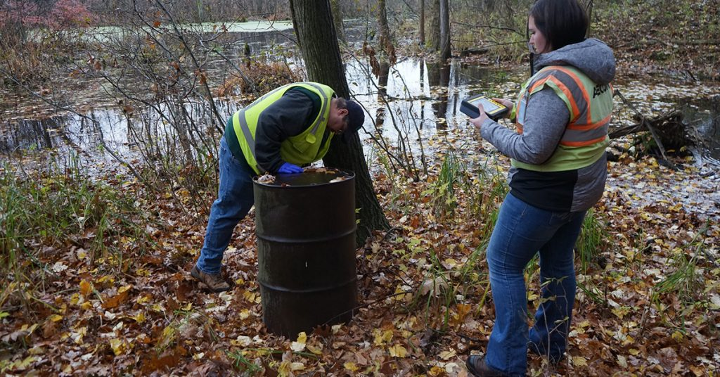 EQ testing water for PFAS toxic chemicals