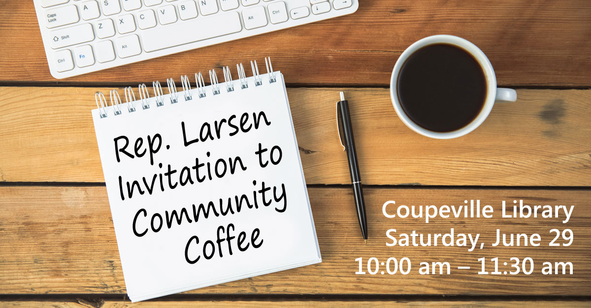 Rep. Larsen Invitation to Community Coffee
