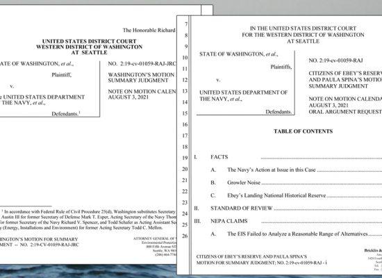 NEPA Navy Growler Lawsuit Responses